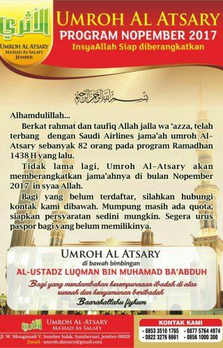 Umrah al Atsary program nopember